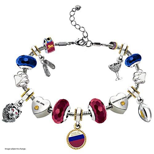 AFL Lions Charm Bracelet Charm Bracelet with Hanging Charms