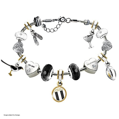 AFL Collingwood Magpies Women's Charm Bracelet