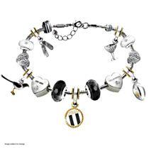 AFL Collingwood Magpies Women's Bracelet With Swarovski Crystals