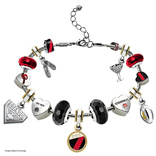 AFL Essendon Bombers Women's Charm Bracelet