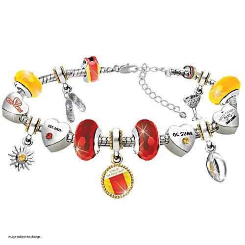AFL Gold Coast Suns Women's Charm Bracelet