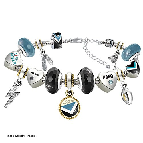 AFL Power Charm Bracelet with Hanging Charms