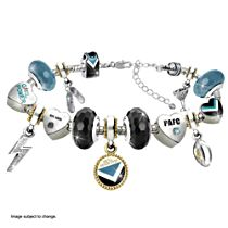 AFL Port Adelaide Women's Charm Bracelet With Swarovski Crystals