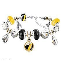 AFL Richmond Tigers Women's Charm Bracelet With Swarovski Crystals