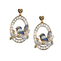 Jewel of Nature Fairy Wren Earrings