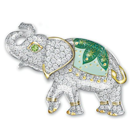 Lucky Elephant Women's Brooch