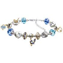 Fairy Wren Charm Bracelet