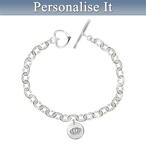 Princess Personalised Silver Bracelet