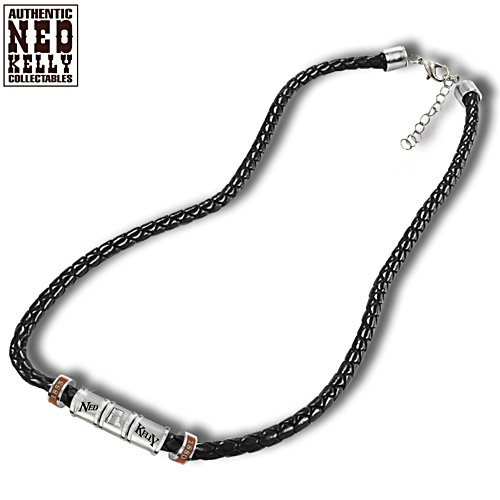 Ned Kelly Leather Men's Necklace
