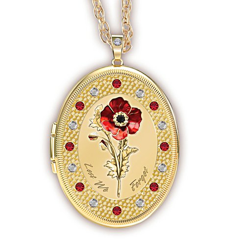 Lest We Forget Poppy Locket