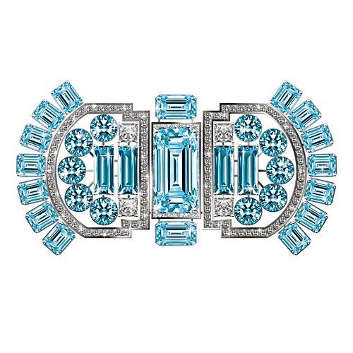 Royal Sovereign Aqua Brooch