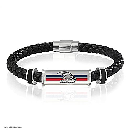 Adelaide Crows Men's Leather Wristband