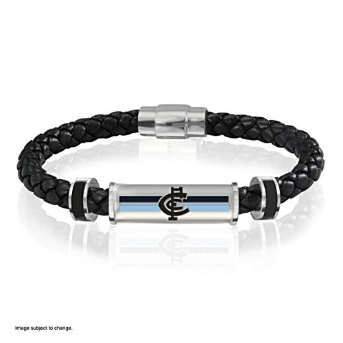 Carlton Blues Men's Leather Wristband