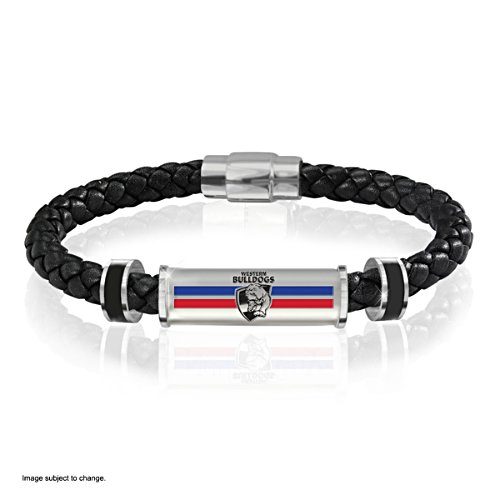 Western Bulldogs Men's Leather Wristband