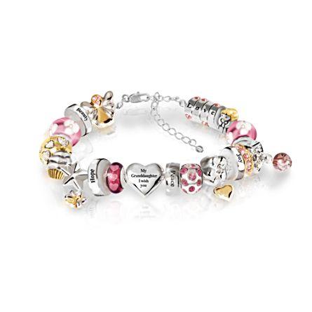 'Granddaughter Heartfelt Wishes' Bracelet