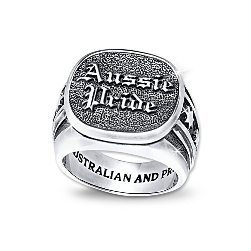 Aussie Pride Men's Ring with Patriotic Engravings