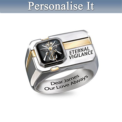 A Hero's Blessing Remembrance Men's Ring