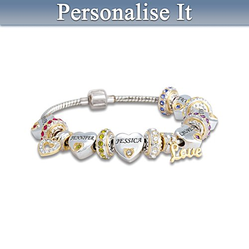 'Forever In A Grandmother's Heart' Personalised Bracelet
