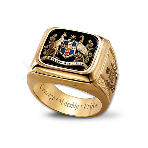 Advance Australia Ring with Traditional Coat of Arms