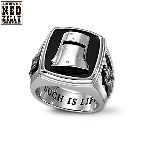 Ned Kelly Sterling Silver-Plate Men's Ring