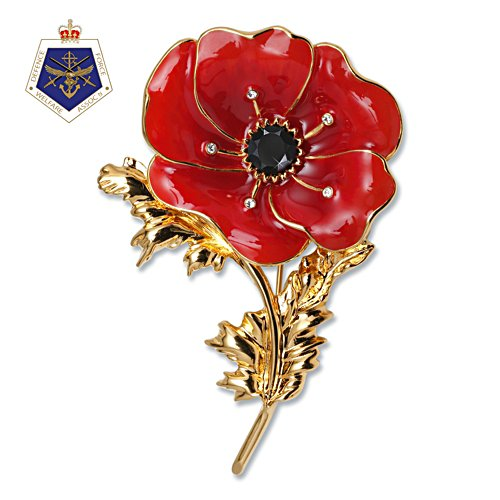 Flanders Fields Poppy Brooch