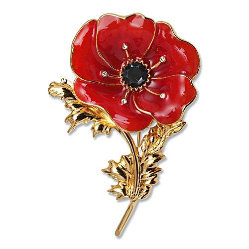 Flanders Fields Poppy Brooch