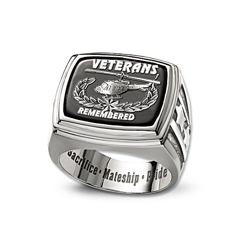 Veterans Remembered Black Onyx Ring