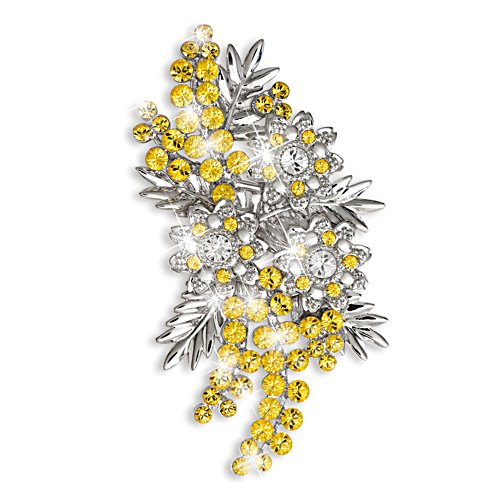 Gift from the Nation Wattle Brooch