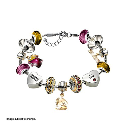 NRL Brisbane Broncos Women's Charm Bracelet
