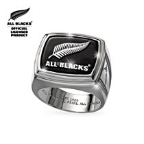 Spirit of the All Blacks Ring with Genuine Black Onyx