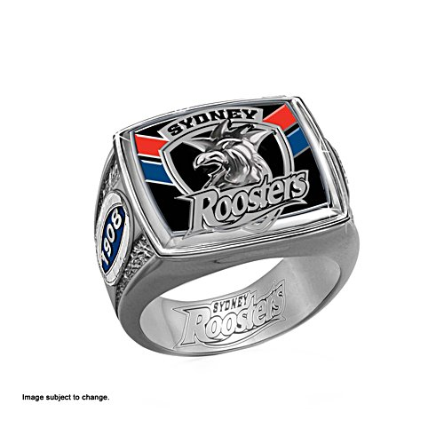 NRL Sydney Roosters Ring with Team Colours