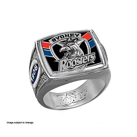 NRL Sydney Roosters Men's Sterling Silver Ring