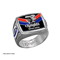 NRL Newcastle Knights Men's Sterling Silver Ring