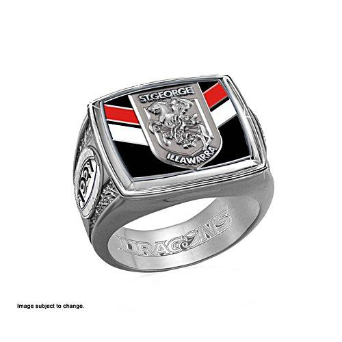 NRL St. George Dragons Ring with Team Colours