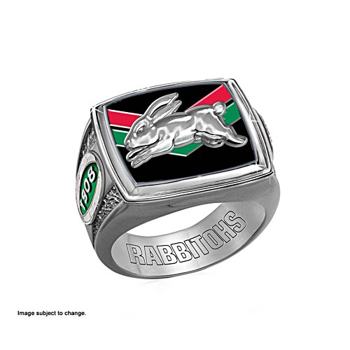South Sydney Rabbitohs Ring with Team Colours