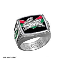 NRL South Sydney Rabbitohs Men's Sterling Silver Ring