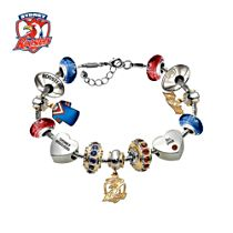 NRL Sydney Roosters Women's Charm Bracelet with Swarovski Crystals