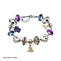 NRL Melbourne Storm Women's Charm Bracelet with Swarovski Crystals