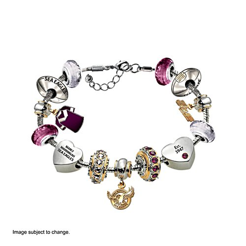 NRL Manly Warringah Sea Eagles Women's Charm Bracelet