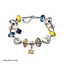 NRL North Queensland Cowboys Women's Charm Bracelet with Swarovski Crystals
