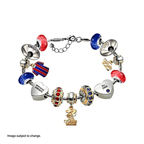 NRL Newcastle Knights Women's Charm Bracelet