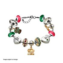 NRL South Sydney Rabbitohs Women's Charm Bracelet with Swarovski Crystals