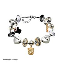 NRL New Zealand Warriors Women's Charm Bracelet with Swarovski Crystals