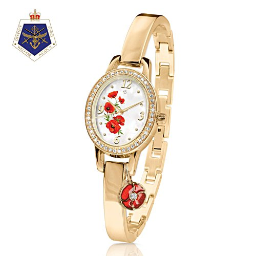 'Lest We Forget'  Poppy Charm Watch