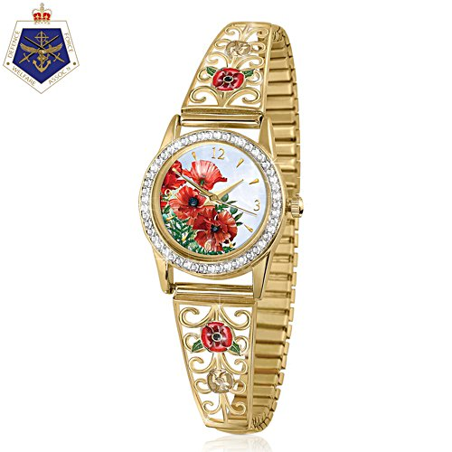 'Lest We Forget' Gold-Plated Ladies' Watch