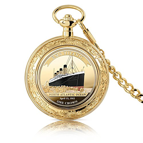 'Legend Of The Ocean' Titanic Coin-Inlaid Pocket Watch
