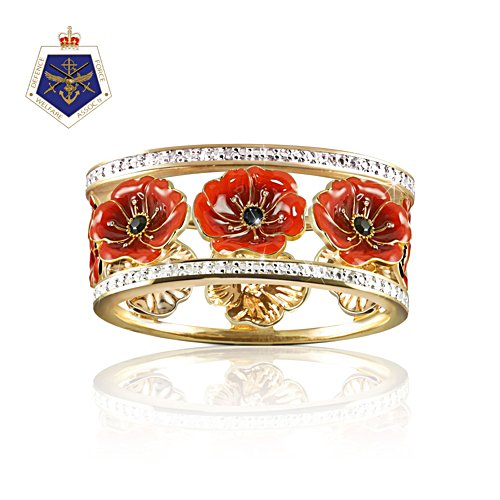 'Lest We Forget' Enamel Poppy Ring