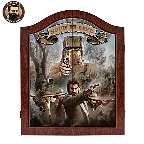 Ned Kelly Deluxe Premium Crafted Dart Board & Cabinet