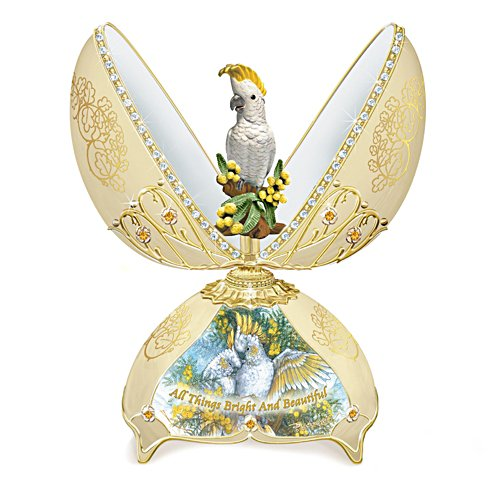 Sulphur Crested Cockatoo Music Box