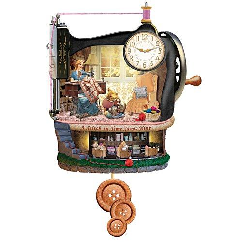Vintage Dressmaker's Cottage Clock